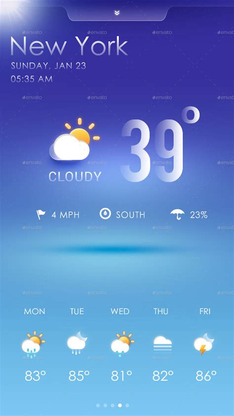 Weather App – 17+ Free PSD, EPS, Format Download   Free
